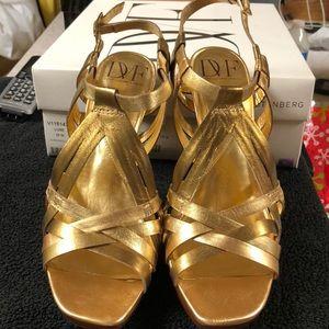 Gold bronze metallic Napa Diane von Furstenburg